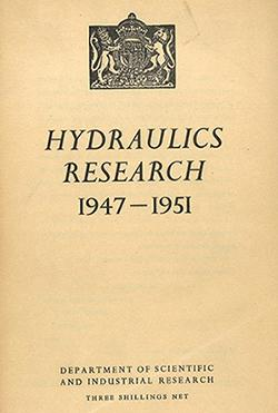 Cover report Hydraulics research board